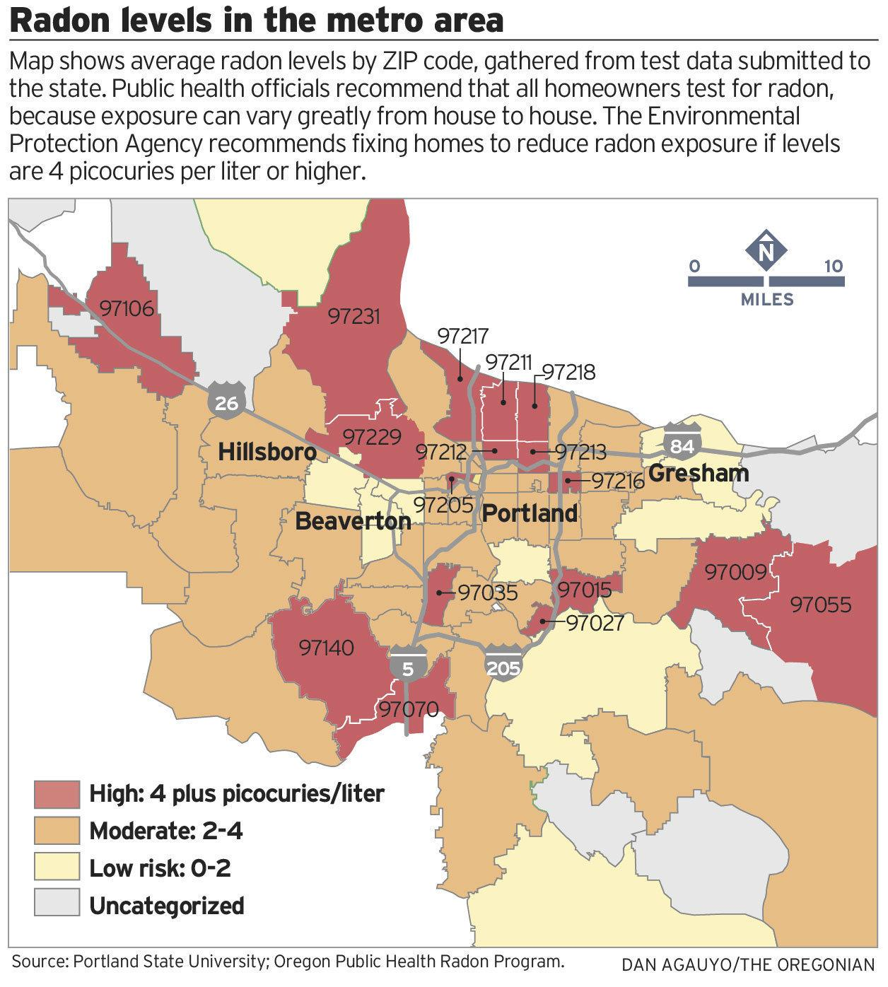 radon kart Radon kart Portland   Radon kart i Portland (Oregon   USA) radon kart
